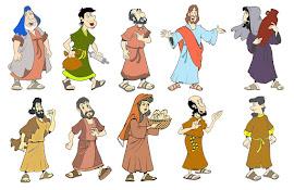 Figuras de personagens Bíblicos e outros.
