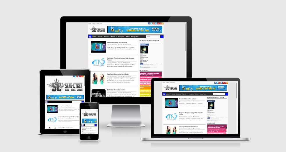Sang Cyber Responsive Blogger Template