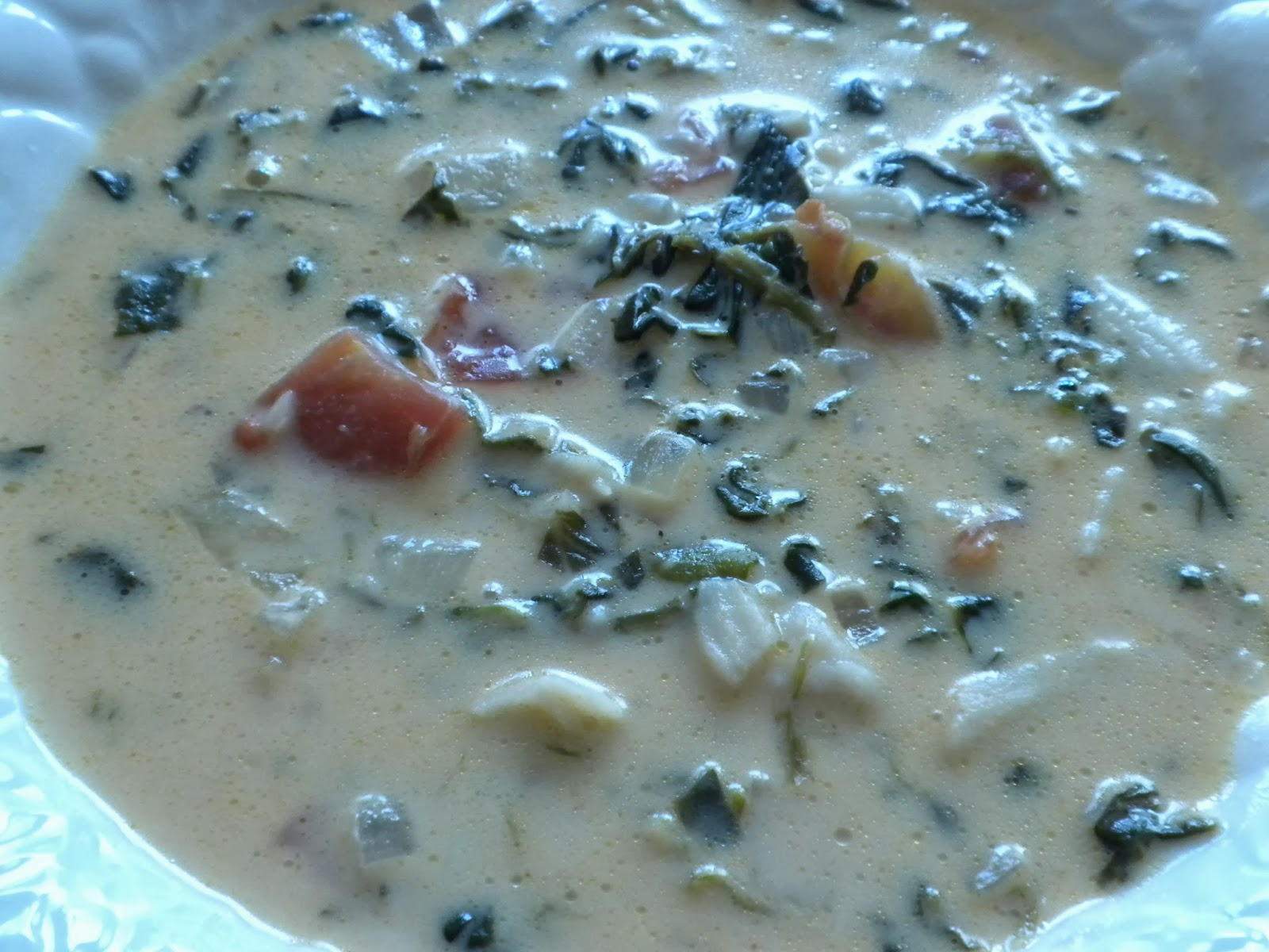 African Spinach Coconut Soup by substance of Living