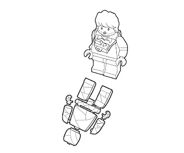 #9 Lego Coloring Page