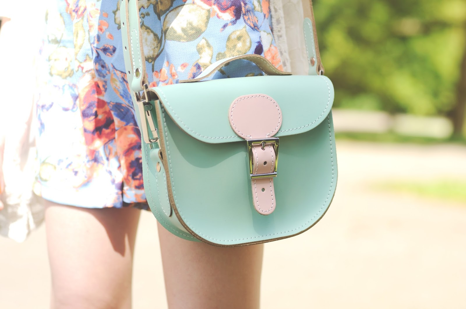pastel satchel bag