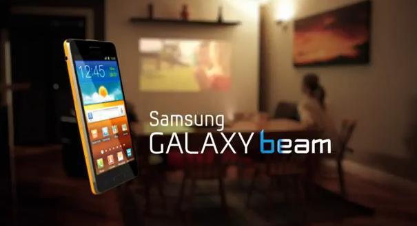 Makko pals samsung galaxy beam 39 projector phone 39 for Samsung beam tv