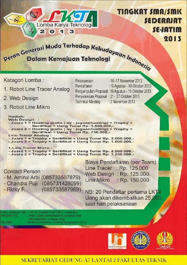 Lomba Karya Teknologi 2013 Himatektro Unesa