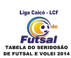TABELA DO SERIDOSÃO DE FUTSAL E VOLEI 2014