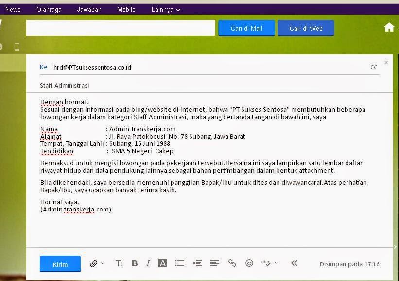 Cara Mengirim Surat Lamaran Kerja Lewat Email - ben jobs