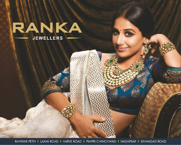 vidya balan spicy shoot for ranka jewellers print ads actress pics