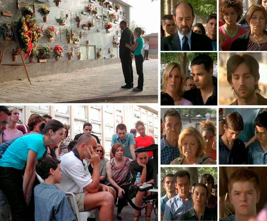 Muerte y entierro de Marisa (Beatriz Carvajal) en 'Compañeros', finales de series