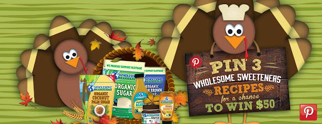 Pin 3 Wholesome Sweeteners Recipes For a Chance To Win $50! (Ends Nov. 22nd)