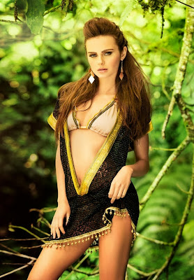Moldavia supermodel Xenia Deli amazing beauty and hot body for Mar de Rosas Summer Hottest sexy swimwear