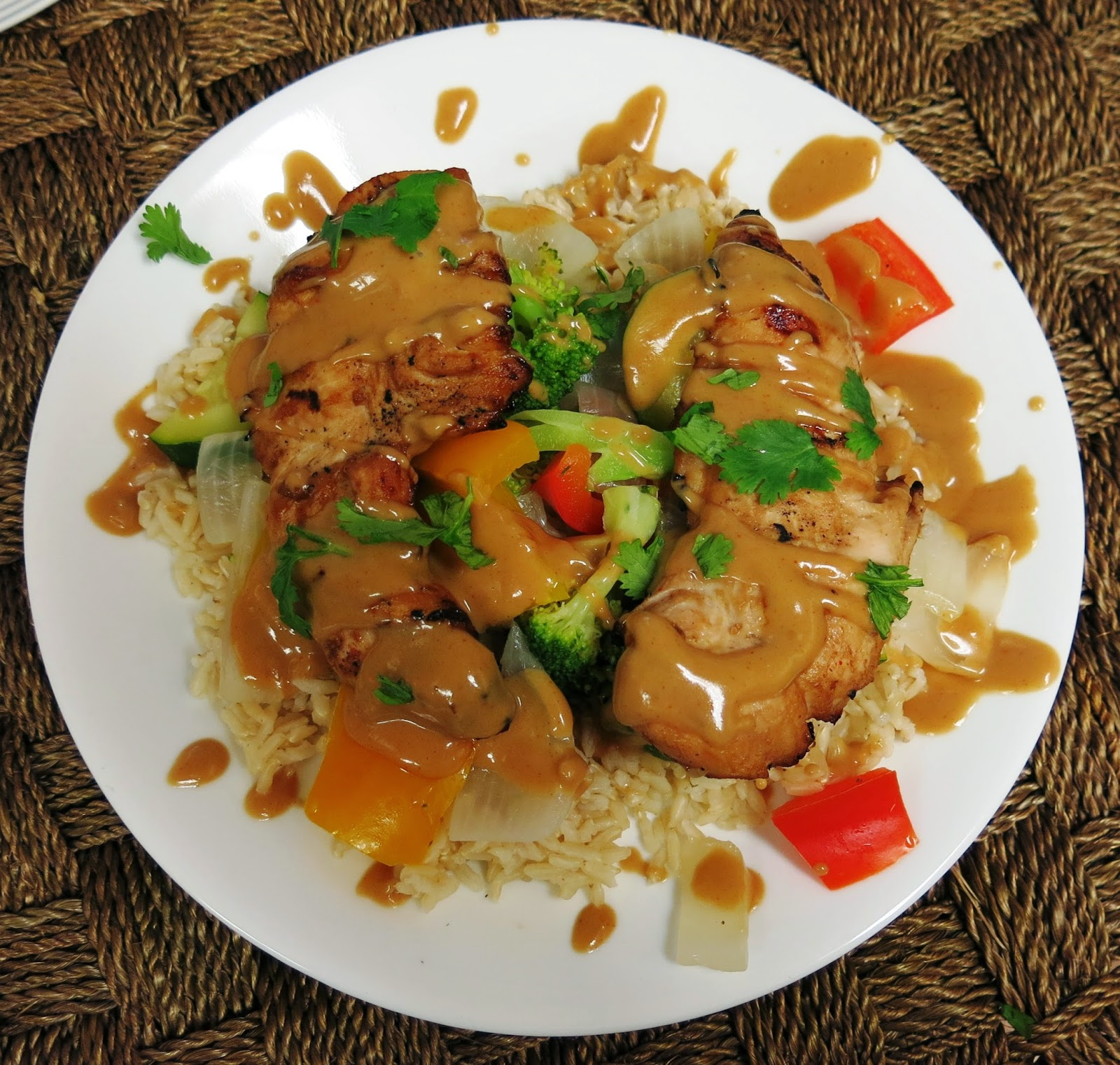 Grilled Asian Pork Tenderloin With Peanut Sauce Recipe — Dishmaps