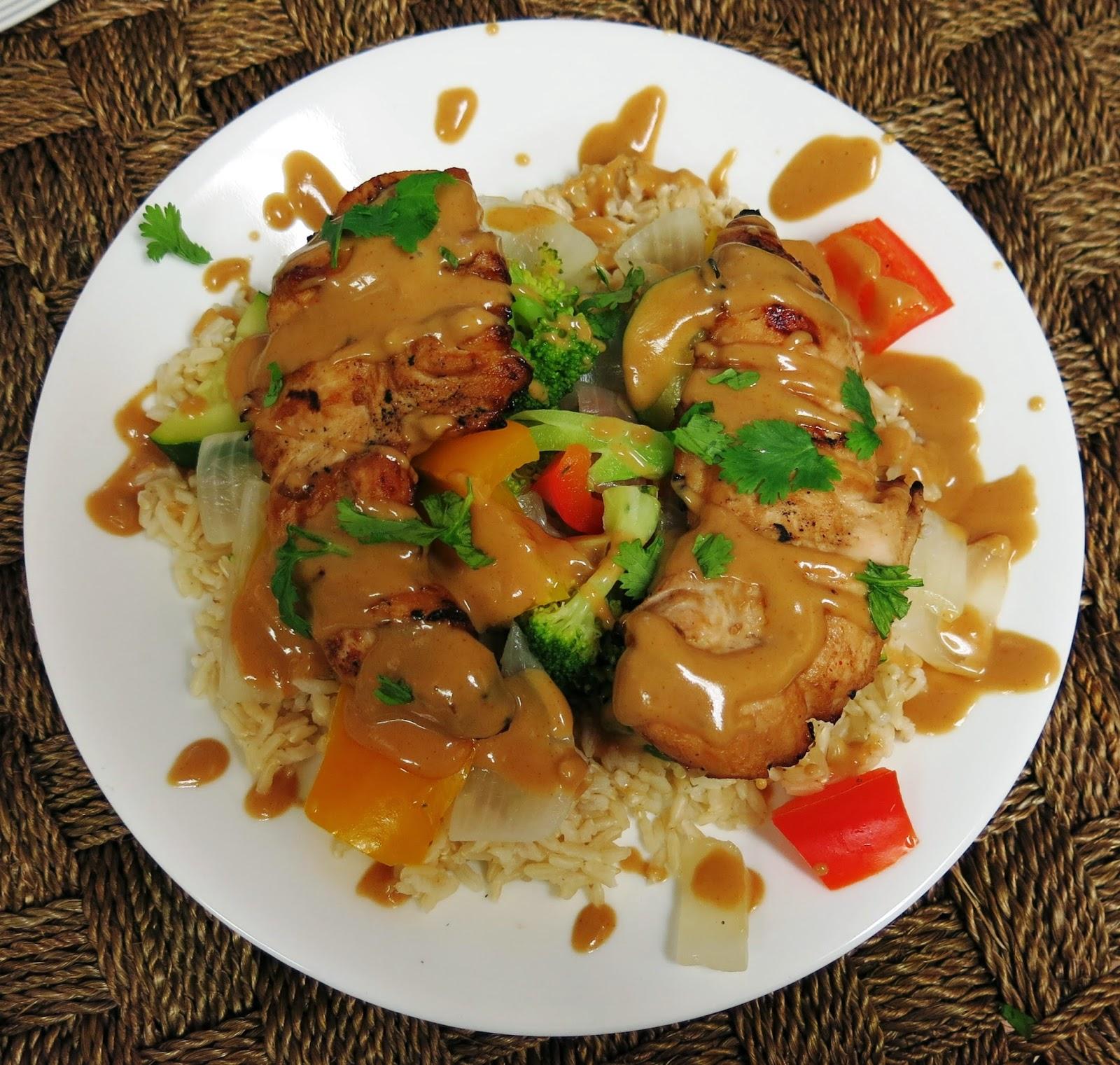 ... & Low Calorie: Grilled Chicken Tenderloins with Zesty Peanut Sauce