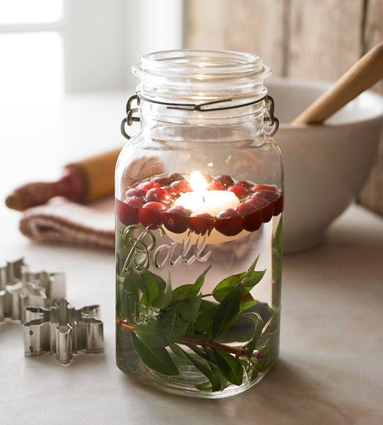Be DifferentAct Normal Mason Jar Christmas Centerpiece