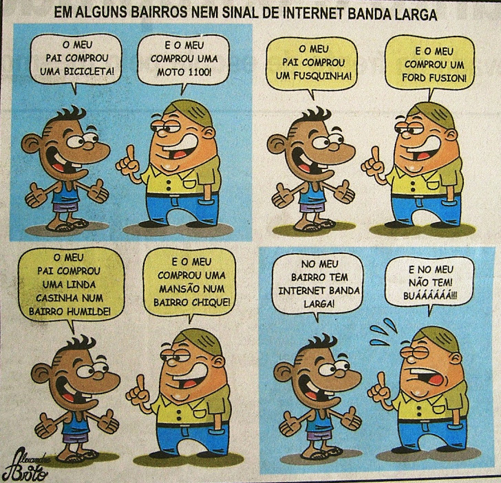 Charge publicada no Jornal Tribuna de Indaiá