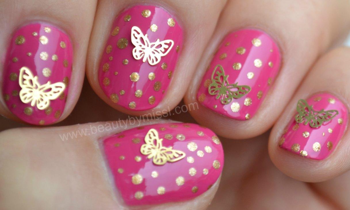 dotticure, manicure, butterflies, notd