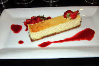 Great strawberry cheesecake.