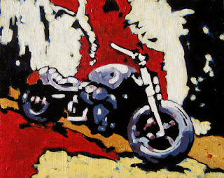 motorcycle | painting | romanian