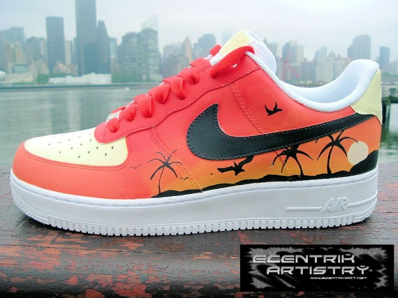 huge sale ac5ed 2f5d3 Nike Air Force 1 Low  Tropical Sunset  Custom by Ecentrik Artistry