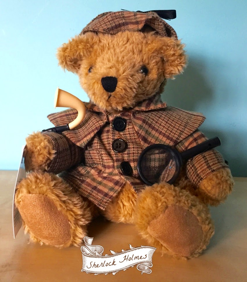 Morgan's Milieu | GB British Teddies: A teddy dressed as Sherlock Holmes by The Great British Teddy Bear Company.