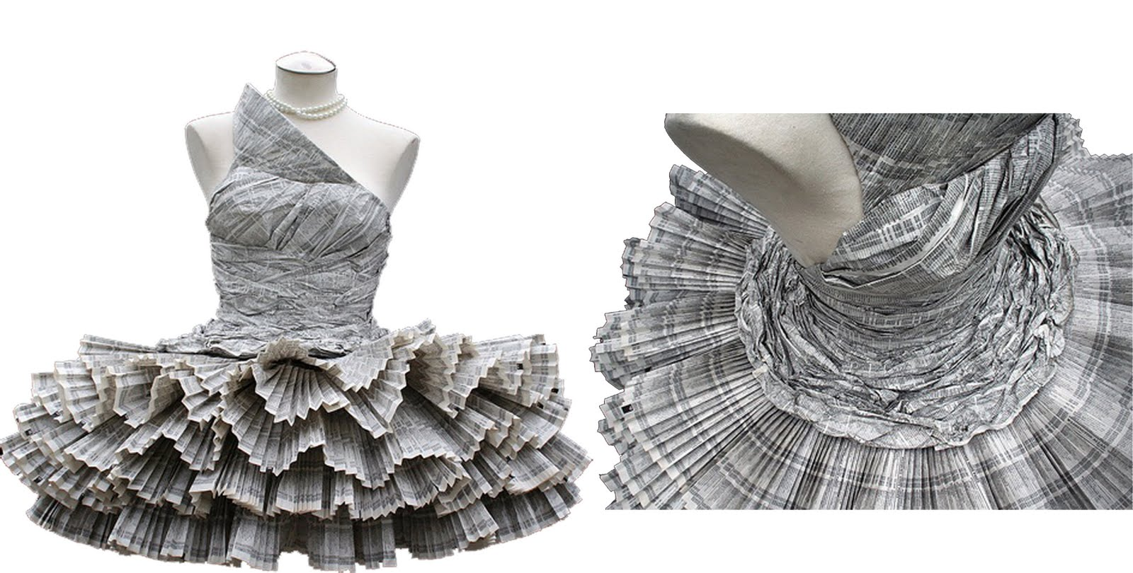 Vestidos Con Papel Periodico