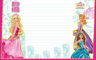 Caratula para cuaderno Horizontal de Barbie