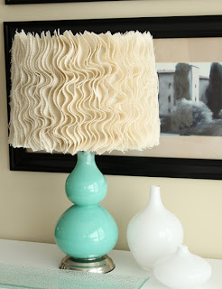 Carries Design Musings - DIY Ruffle Lamp Shade