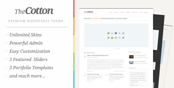 The Cotton WordPress Theme Free Download by ThemeForest.