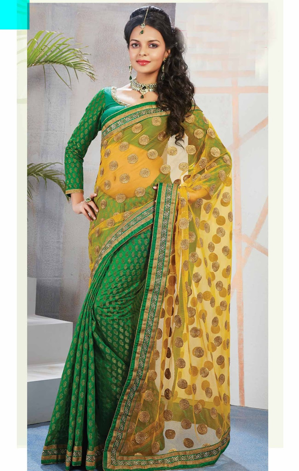 Latest Deepavali  Fancy Saree Designs Stills