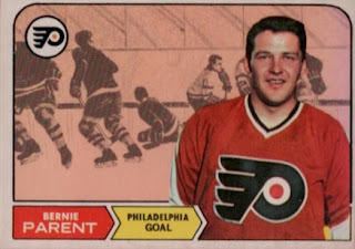bernie parent 1967-68 rookie hockey card