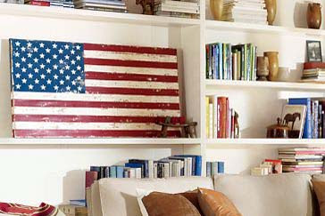 Pottery Barn Knock Off Make A Wood Flag For Patriotic Holidays | Home