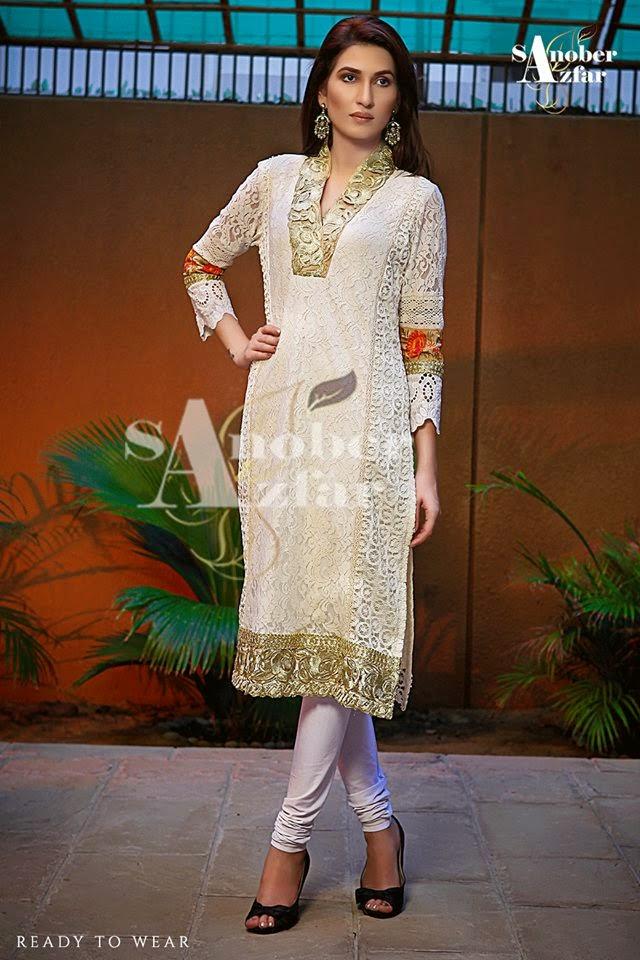 Sanober Azfar Winter Dresses Collocation 2014-15
