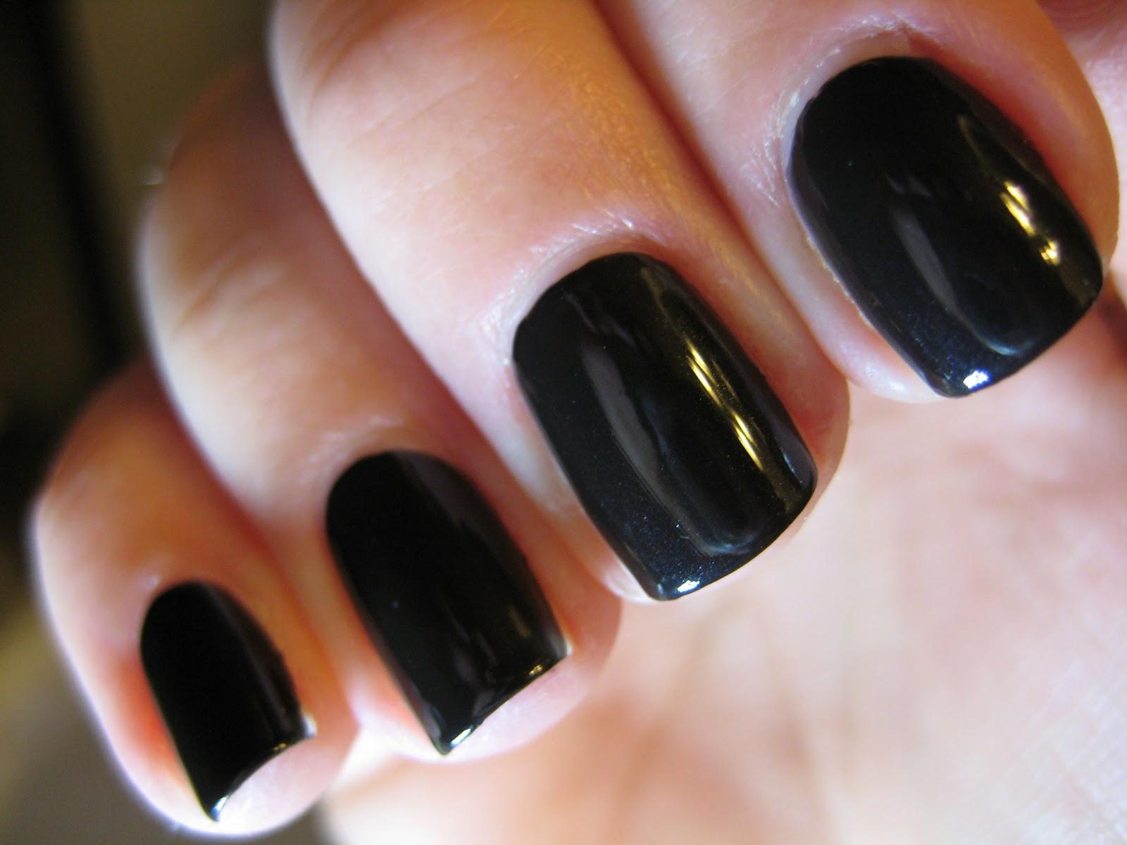 Nail Polish Nonsense: NOTD: Chanel Black Satin