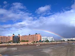 """Día de viento, lluvia y """"decorado""""precioso en el trayecto Roquetas-Aguadulce. 24.11.11"""
