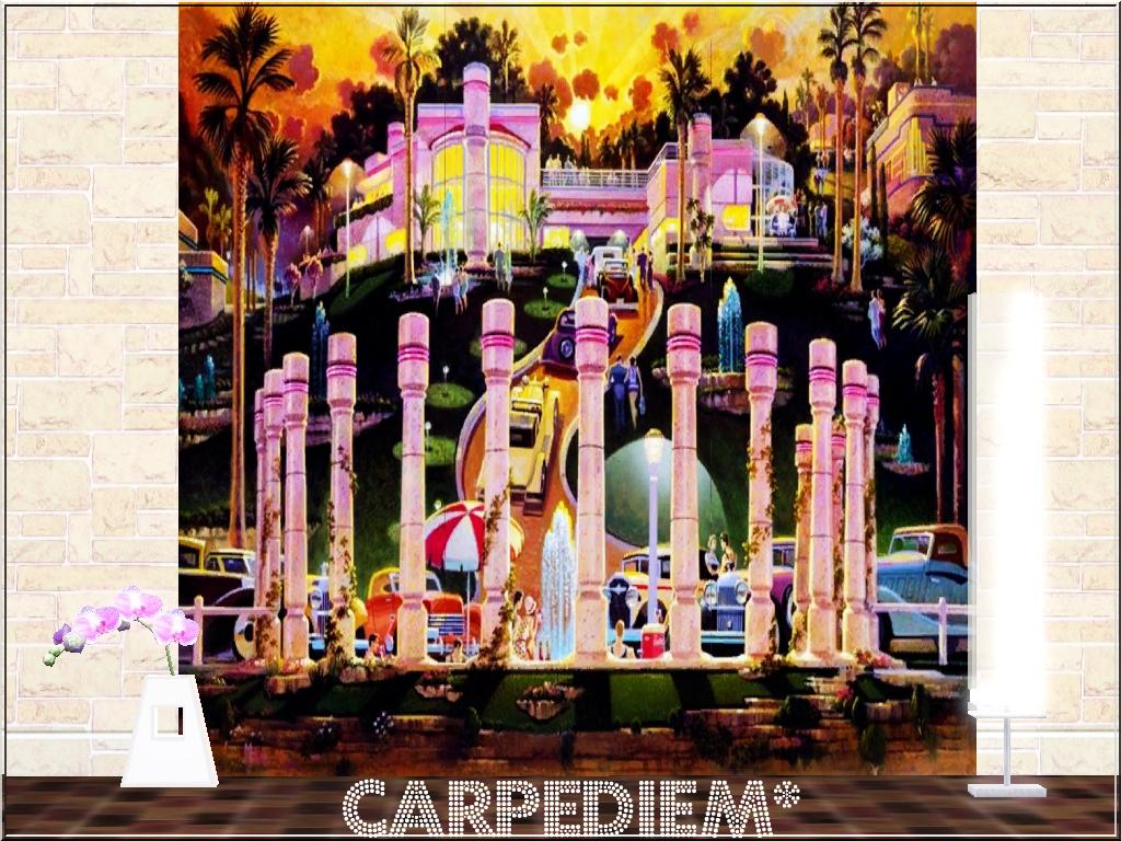 carpediem sims vintage mural set 1