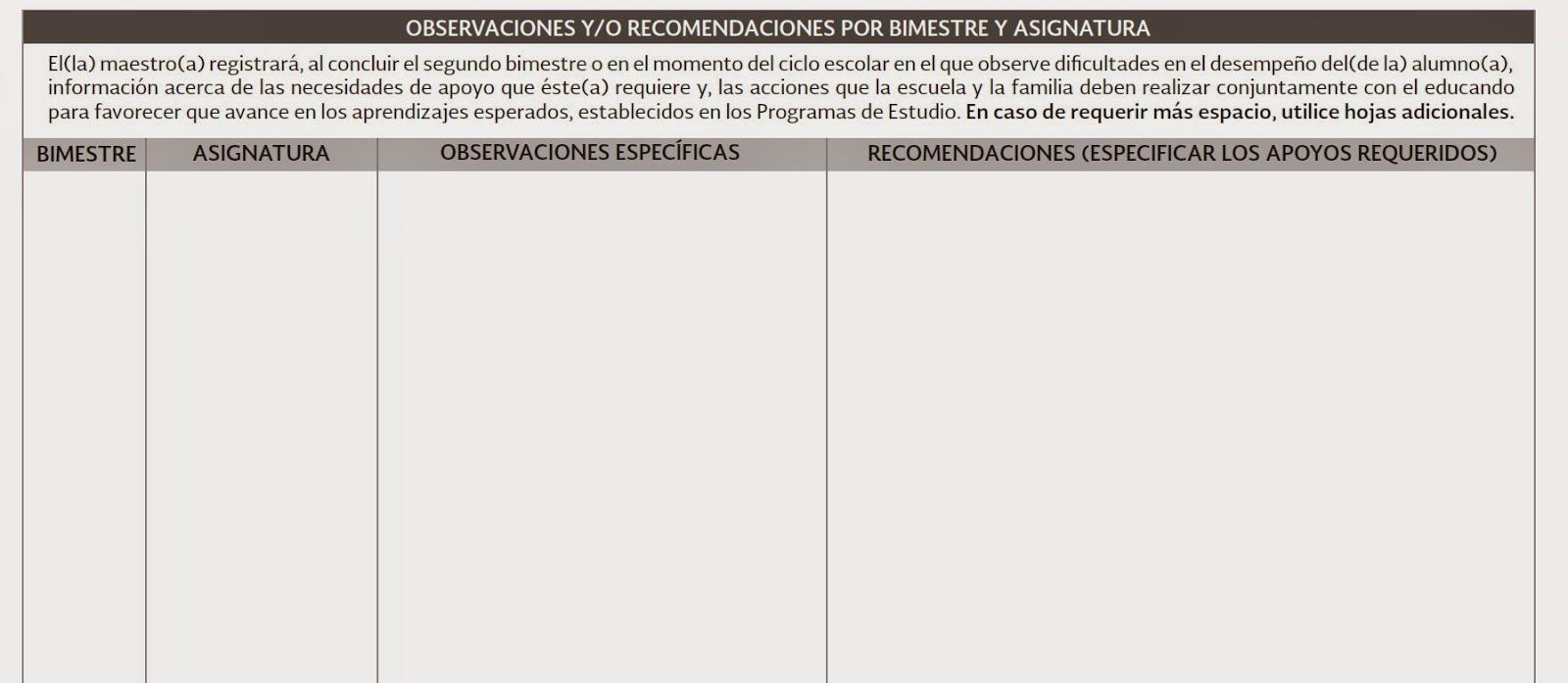 Frases, comentarios, recomendaciones para reportes de evaluación ...
