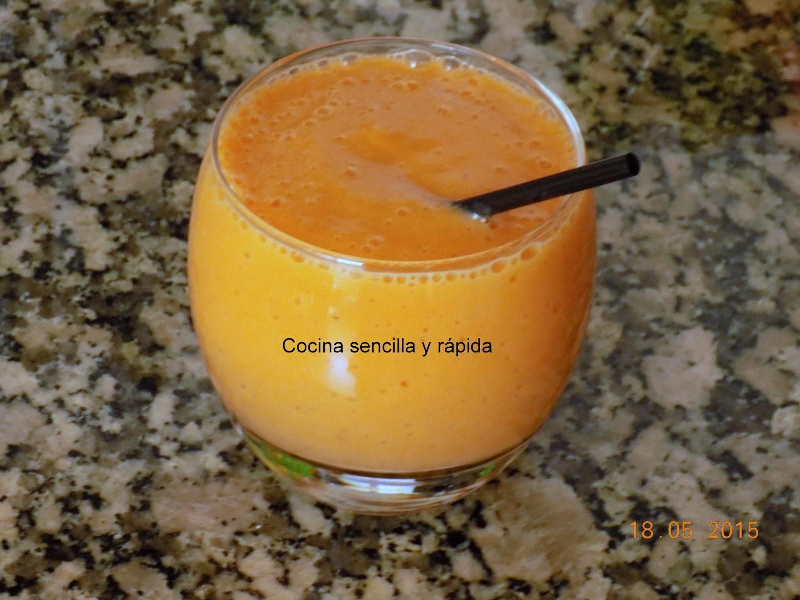 Cocina sencilla y r pida batido de mango for Cocina rapida y sencilla