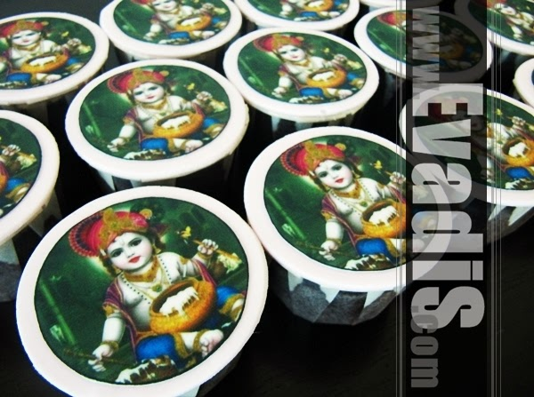 Picture of Lord Krishna cupcakes from another view