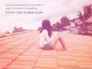 alone girl Free alone quote wallpaper