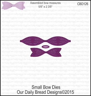 Our Daily Bread Designs Custom Dies: Small Bow