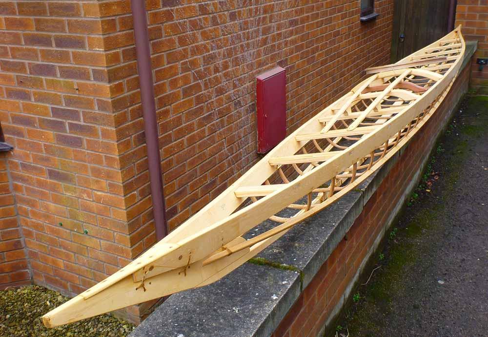 Sail, Salt and Sawdust: Completed West Greenland Kayak Frame