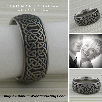 Celtic Knot Wedding Ring in Titanium