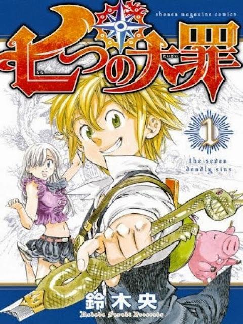 Okładka pierwszego tomu mangi Nanatsu no Taizai
