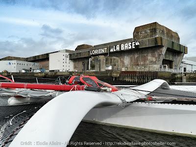 Arkema à La Base Lorient quelques jours avant son chantier.