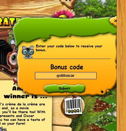 bonuscode farmerama