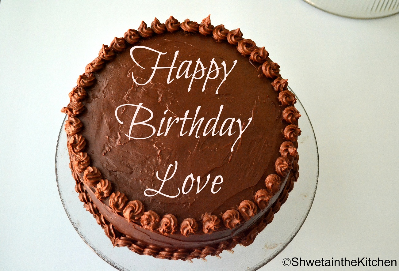 Shweta in the Kitchen: Birthday Cake - Chocolate Cake with Sourcream ...