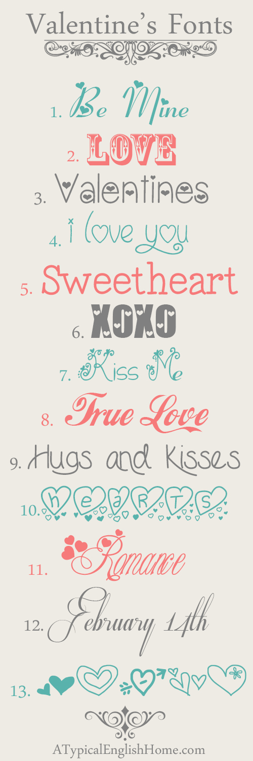 Free Valentine Fun Fonts