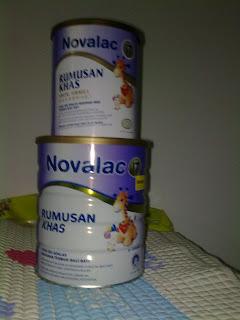 ni la rupa susu Novalac IT.. sesuai untuk baby umur 0-12 bulan....