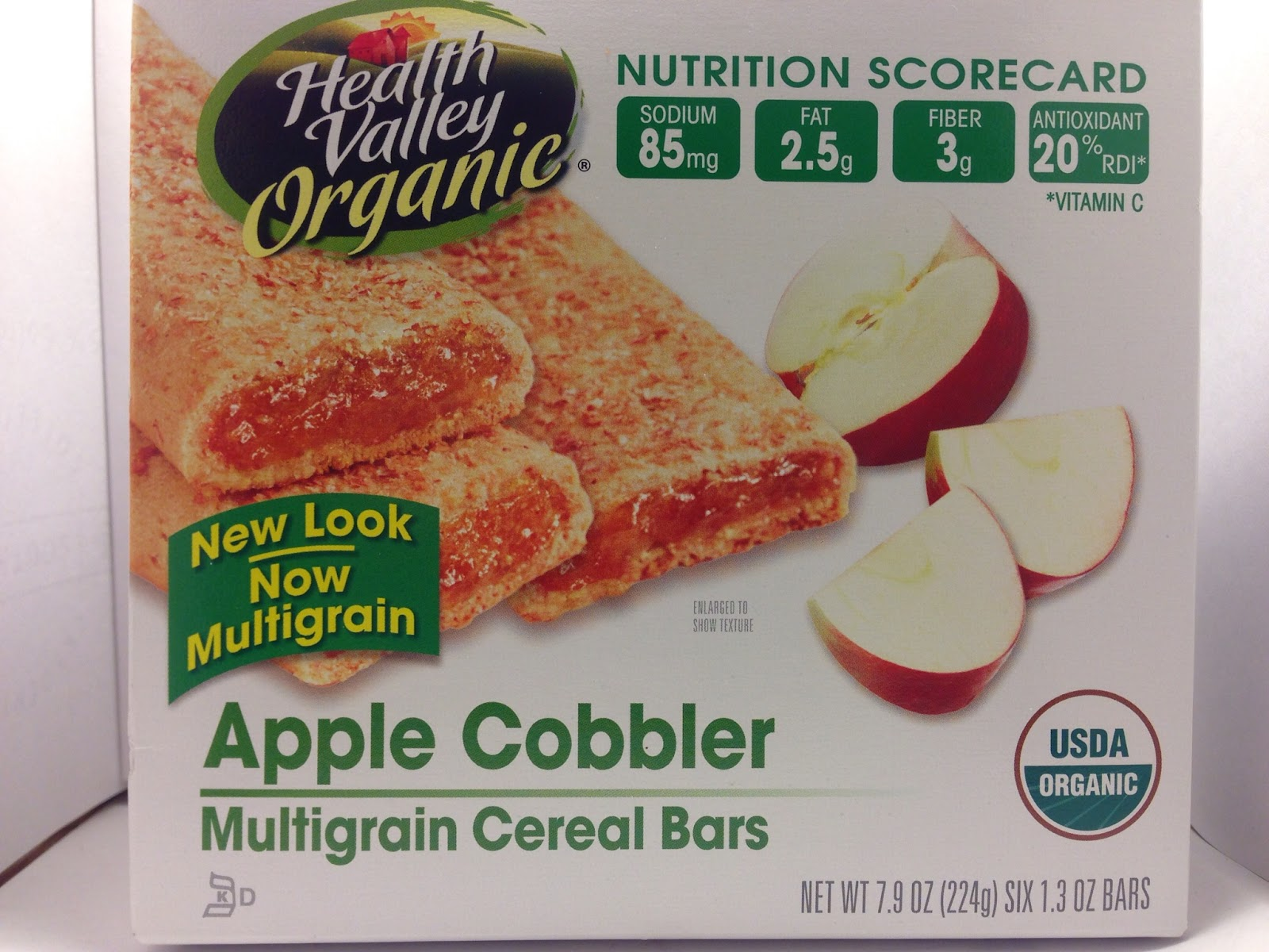 Crazy food dude review health valley organic apple for Food bar health