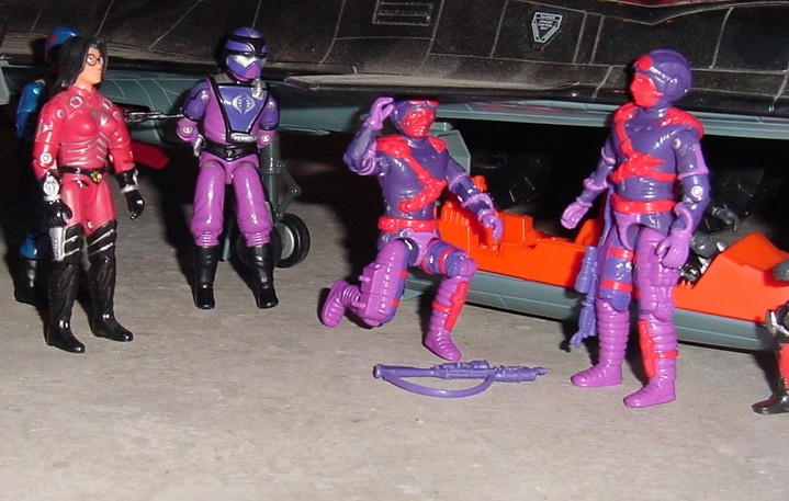 1992 Heli Viper, 1989 Aero Viper, 2002 Convention Exclusive Baroness, 2005 Crimson Shadow Guard, Cobar Officer, Night Raven