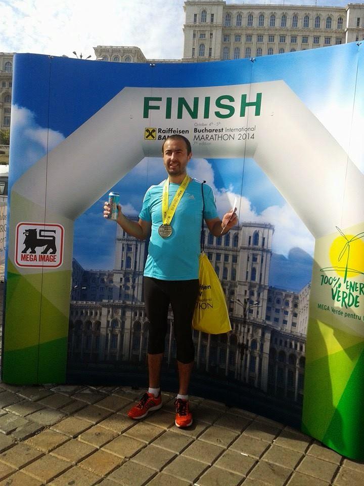 Maraton Internaţional Bucureşti 2014. Remediul împotriva răcelii. Finish