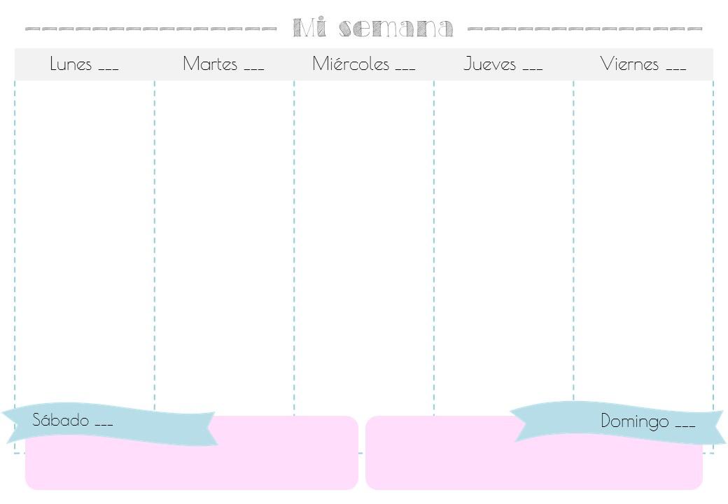 Heli Papeles ♥: Descargable Planner Semanal